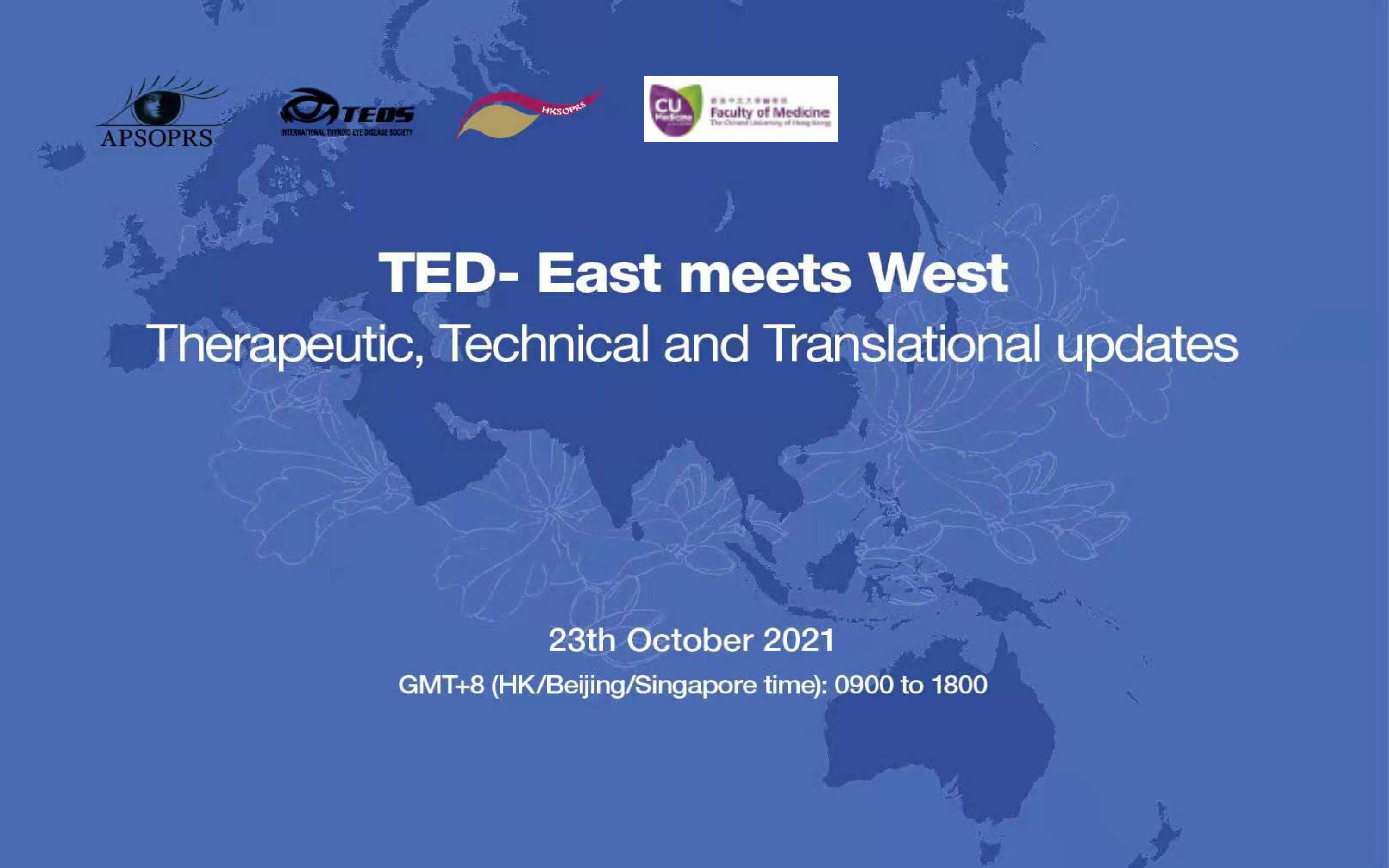 TED -East meets West : Therapeutic, Technical and Translation updates