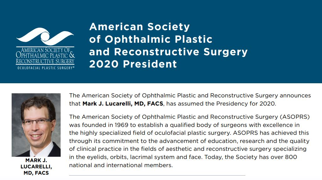 ASOPRS 2020 President Announcement