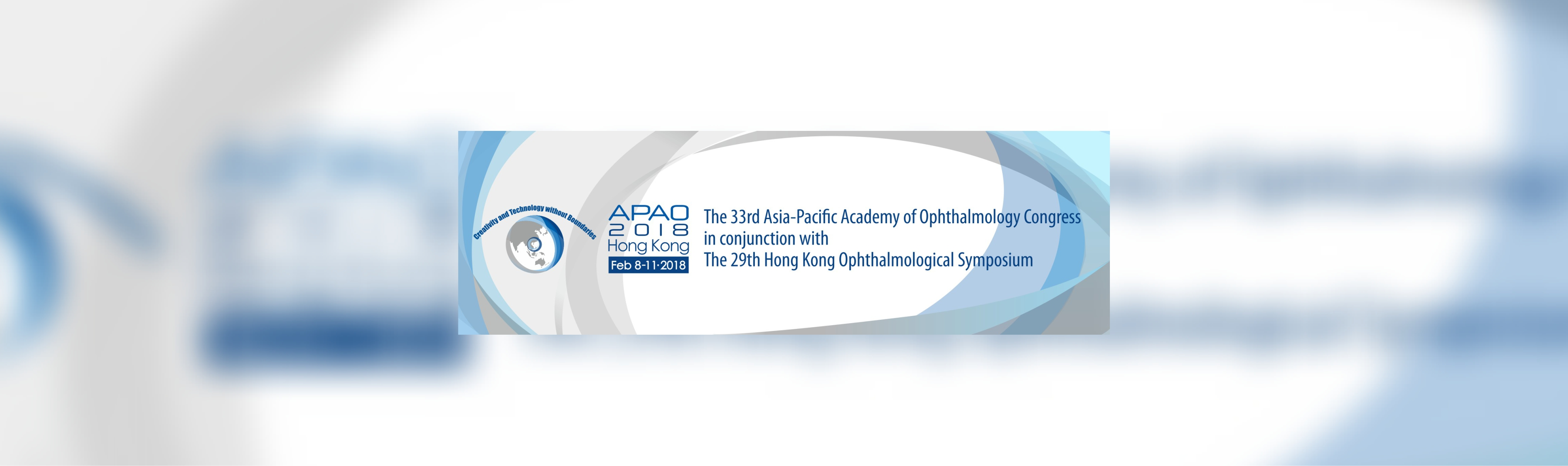 APAO 2018 - The 33rd Asia-Pacific Academy of Ophthalmology Congress in conjunction with The 29th Hon